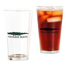 Navarre Beach - Alligator Design. Drinking Glass
