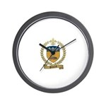 PICKARD Family Crest Wall Clock