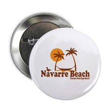 "Navarre Beach - Palm Trees Design. 2.25"" Button"