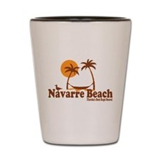 Navarre Beach - Palm Trees Design. Shot Glass