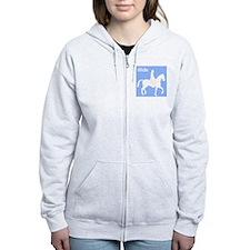 Horseback Riding iRide Silhouette Zip Hoodie