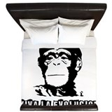 Human Evolution King Duvet