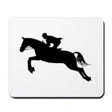 Horse Jumping Silhouette Mousepad