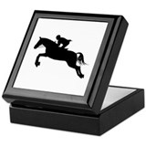 Horse Jumping Silhouette Keepsake Box