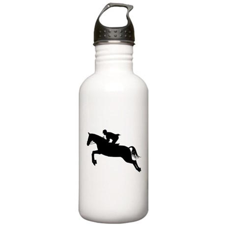 Horse Jumping Silhouette Stainless Water Bottle 1.