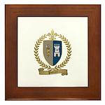 POTTIER Family Crest Framed Tile