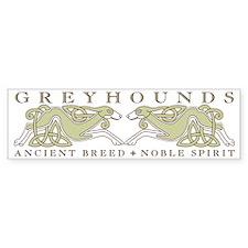 Knotwork Greyhounds Bumper Bumper Sticker