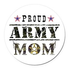 Army Mom Round Car Magnet