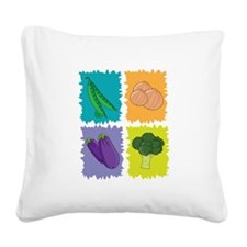 Veggies Square Canvas Pillow