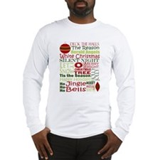 Merry Christmas! Subway Style Long Sleeve T-Shirt