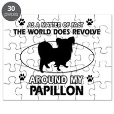 Papillon dog funny designs Puzzle
