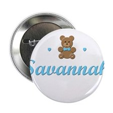 Blue Teddy - Savannah Button