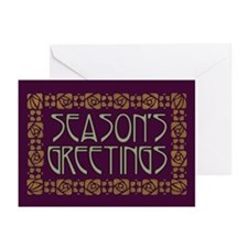 Art Nouveau Season's Greeting Cards (Pk of 10)