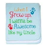 Awesome Like My Uncle baby blanket