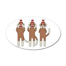Three Monkeys Wall Decal