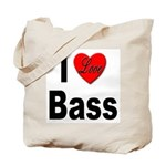 I Love Bass Tote Bag