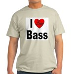 I Love Bass Ash Grey T-Shirt