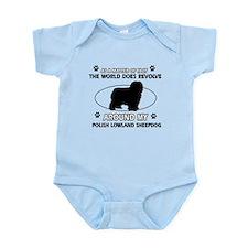 Polish Lowland Sheep dog funny designs Infant Body