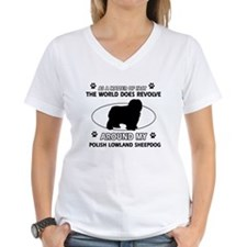Polish Lowland Sheep dog funny designs Shirt