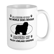 Polish Lowland Sheep dog funny designs Mug
