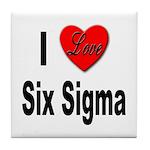 I Love Six Sigma Tile Coaster