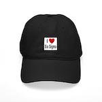I Love Six Sigma Black Cap