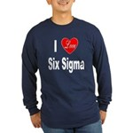 I Love Six Sigma (Front) Long Sleeve Dark T-Shirt