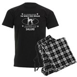 Saluki dog funny designs pajamas