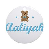 Blue Teddy - Aaliyah Ornament (Round)