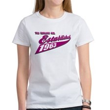 Established in 1963 birthday designs Tee