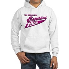 Established in 1965 birthday designs Hoodie