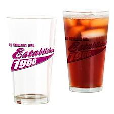 Established in 1966 birthday designs Drinking Glas