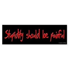 Stupidity Should Be Painful Bumper Bumper Sticker