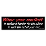 Wear Your Seatbelt - Aliens Bumper Bumper Sticker