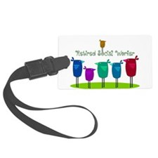 Retired Social Worker Luggage Tag