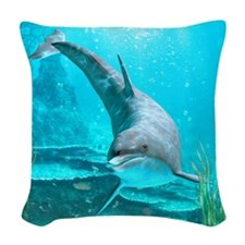 Dolphin Woven Throw Pillow