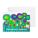 Retired Art Teacher Greeting Card