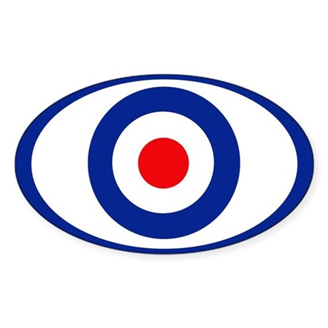 mod target Oval Sticker