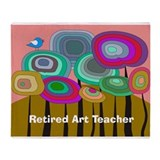 Retired Art Teacher Throw Blanket