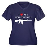 I Love My Sport Utility Rifle Plus Size T-Shirt