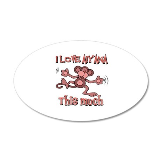 I love Aiyana 35x21 Oval Wall Decal