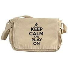 Keep calm and play Badminton Messenger Bag