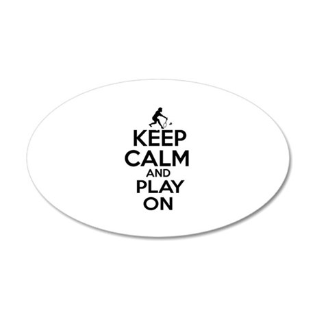 Keep calm and play Badminton 20x12 Oval Wall Decal