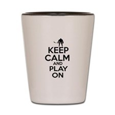 Keep calm and play Ice Hockey Shot Glass