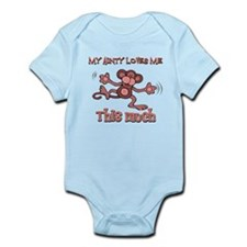 Aunty loves me this much Infant Bodysuit
