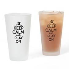 Keep calm and play Raquetball Drinking Glass