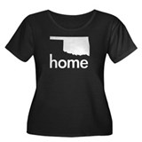 Home Women's Plus Size Scoop Neck Dark T-Shirt