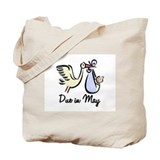 Due In May Stork Tote Bag