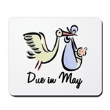 Due In May Stork Mousepad