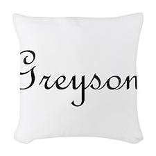 Greyson.png Woven Throw Pillow